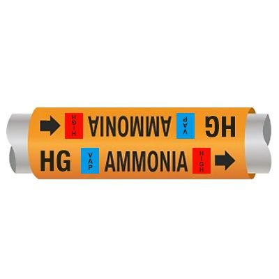 Ultra-Mark® Ammonia Pipe Markers - Hot Gas