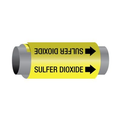 Ultra-Mark® Snap-Around High Performance Pipe Markers - Sulfur Dioxide