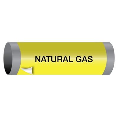 Ultra-Mark® Snap-Around High Performance Pipe Markers - Natural Gas