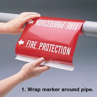 Ultra-Mark® Snap-Around High Performance Pipe Markers- Heating Supply