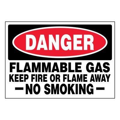 Ultra-Stick Signs - Danger Flammable Gas