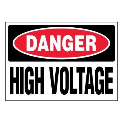 Ultra-Stick Signs - Danger High Voltage