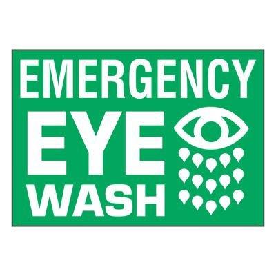 Ultra-Stick Signs - Emergency Eye Wash