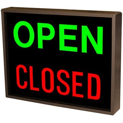 Vertical Open Closed Backlit LED Sign