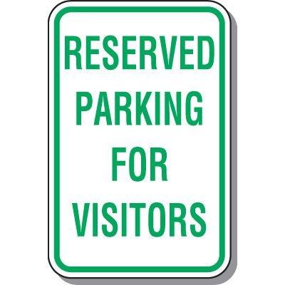 Visitor Parking Signs - Reserved Parking For Visitors
