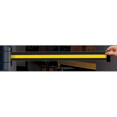 Wall Mount Security Tensabarriers- Yellow and Black 897-15-S-33-NO-D4X-C