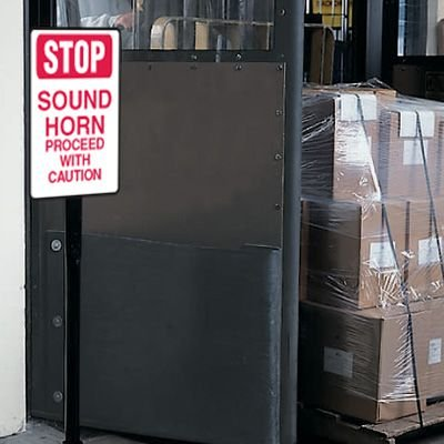 Stop Sound Horn Warehouse Traffic Signs