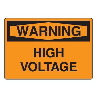 Electrical Hazard Sign - High Voltage
