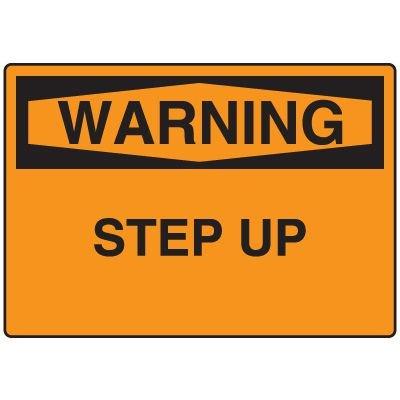 Warning Fall Hazard Sign - Step Up