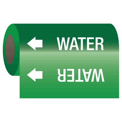 Wrap Around Adhesive Roll Markers - Water