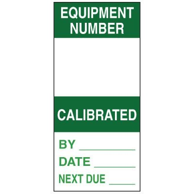 Write-On Action Labels - Equipment Number