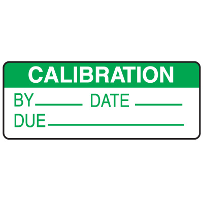 Calibration By Date Due Write On Labels On A Roll