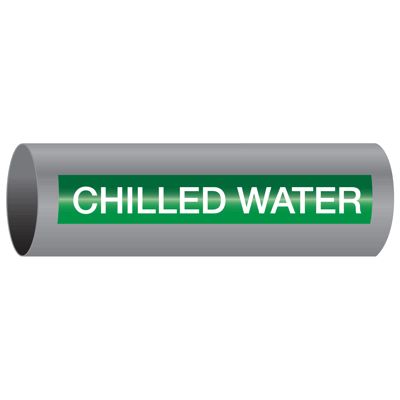 Xtreme-Code™ Self-Adhesive High Temperature Pipe Markers - Chilled Water
