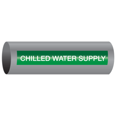 Xtreme-Code™ Self-Adhesive High Temperature Pipe Markers - Chilled Water Supply