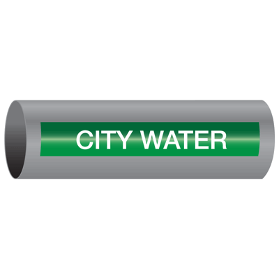 Xtreme-Code™ Self-Adhesive High Temperature Pipe Markers - City Water
