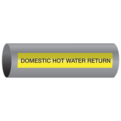 Xtreme-Code™ Self-Adhesive High Temperature Pipe Markers - Domestic Hot Water Return