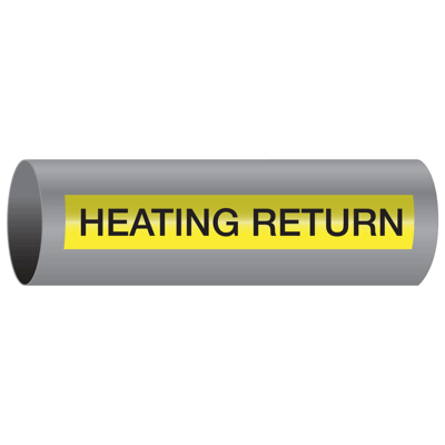 Xtreme-Code™ Self-Adhesive High Temperature Pipe Markers - Heating Return