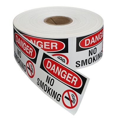 Safety Labels On A Roll - Danger No Smoking