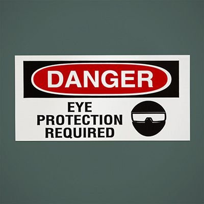 Safety Labels On A Roll - Danger Eye Protection Required