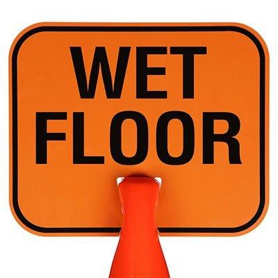 Arrow Sign Snap-On Cone Sign - Wet Floor WETF
