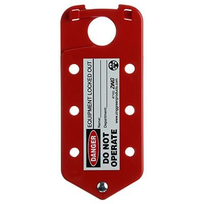Zing® RecycLockout Lockout Tagout Hasp and Tag Combination
