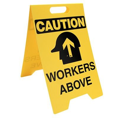 Heavy Duty Floor Stand Signs- Workers Above (With Graphic)