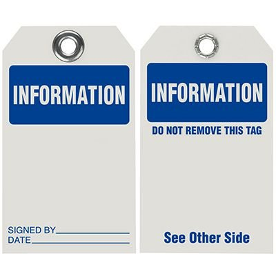 Information - Dry Erase Tag