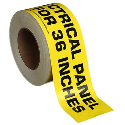 Nadco Caution Electrical Panel Message Tape 3X200-SAWT23