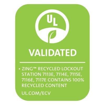 Zing® RecycLockout Lockout Tagout Station , 3 Padlocks