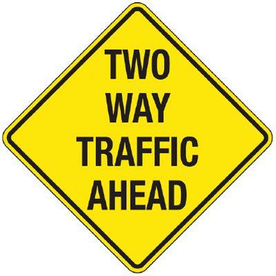 dmv - Drivers Ed with Ashli at South Salem High School ... |Two Way Traffic Ahead Sign