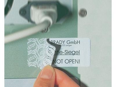 STOP-Sicherheitsetiketten für Laserdrucker und Kopierer