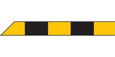 Absperrband mit Blockstreifen gelb schwarz