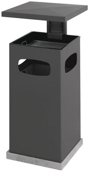 Außenascher-/Abfall-Kombinationen mit Schutzdach