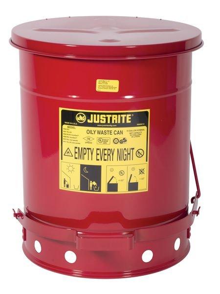 Justrite® Entsorgungsbehälter für brandgefährdete Abfälle