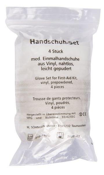 SÖHNGEN Handschuh-Set, Paar - Erste-Hilfe-Nachfüllmaterialien
