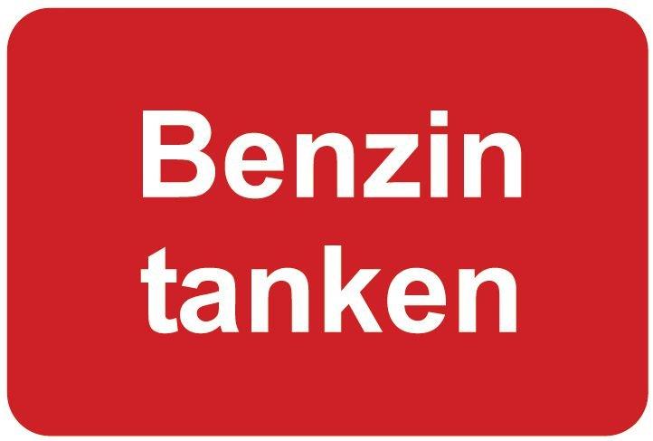 Benzin tanken – Aufkleber zur Fahrzeugkennzeichnung