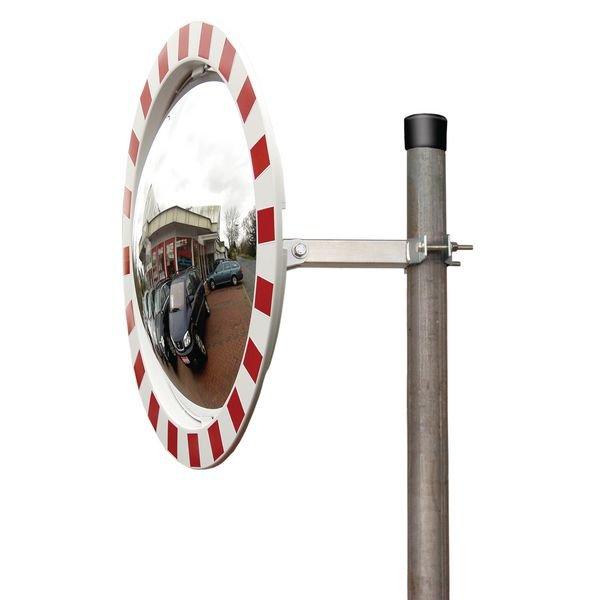 180°-Panoramaspiegel aus Kunststoffharz, rund