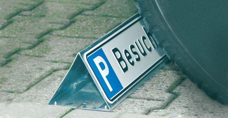 Parkbegrenzer mit Parkplatzreservierung