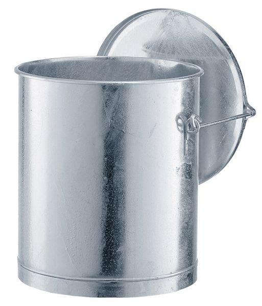Entsorgungsbehälter aus Stahl, feuerverzinkt
