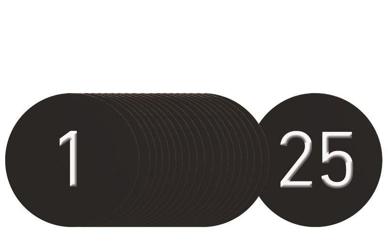Klebemarken für Schlüsselmarken-Systeme aus eloxiertem Aluminium, nummeriert