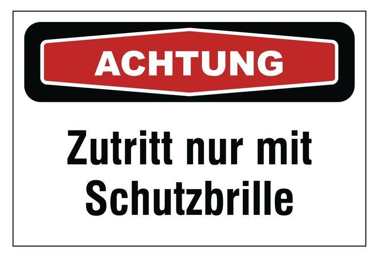 """Focus-Schilder """"Augenschutz"""" mit Text"""