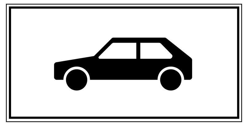 Nur Personenkraftwagen – Parkgebots-Zusatzschilder