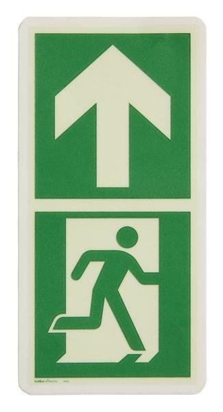 Everglow® Fluchtwegsymbol und Richtungspfeil - Fluchtwegkennzeichnung, bodennah, langnachleuchtend