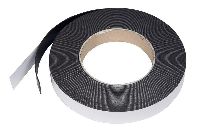 Magnetbänder auf Rolle, selbstklebend