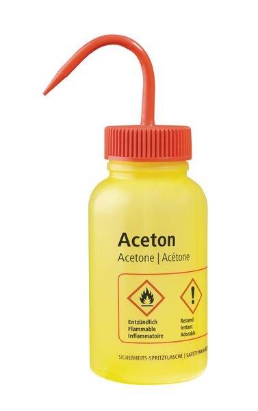 Weithalsflaschen – Labor-Sicherheitsspritzflaschen mit GHS/CLP-Kennzeichnung