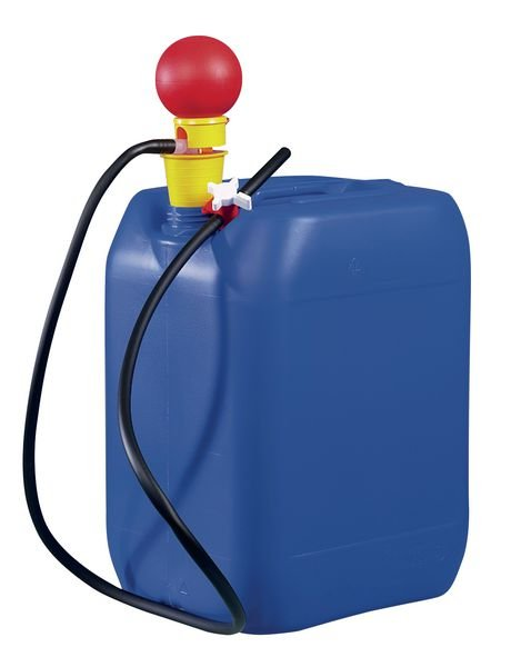 Polypropylen-Handpumpe mit Auslaufschlauch zur Fass- und Kanisterentleerung