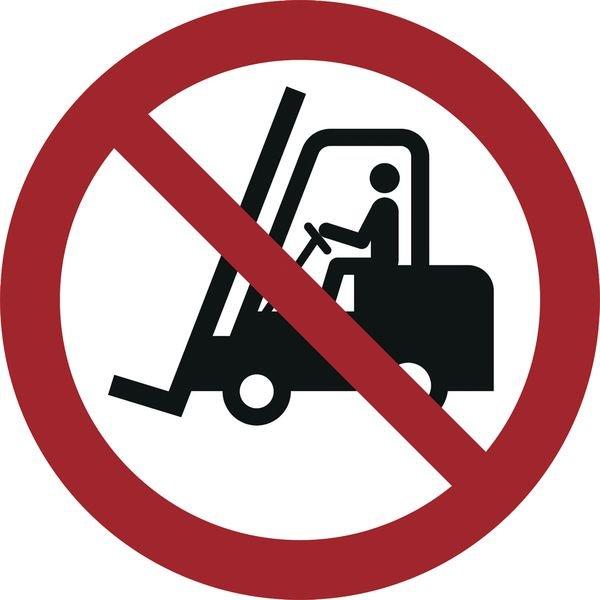 Für Flurförderzeuge verboten - Verbotszeichen zur Bodenmarkierung