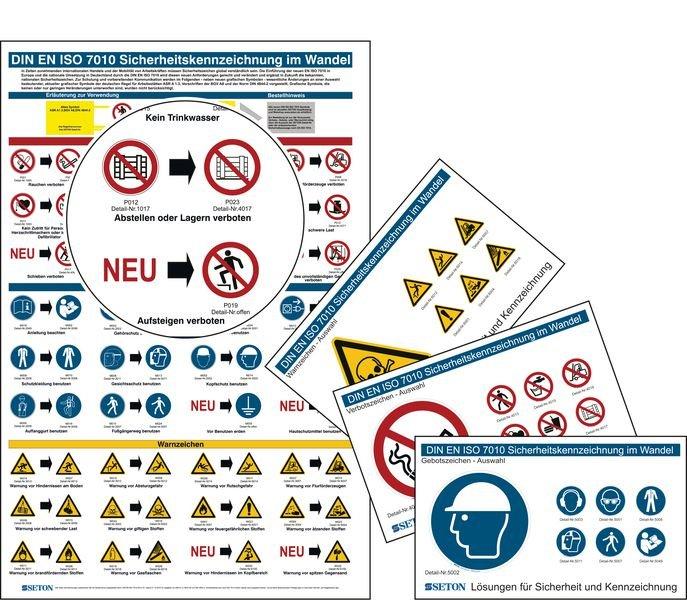 Aushang Starter-Set wichtigste Änderungen zur DIN EN ISO 7010