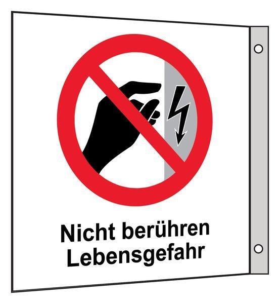 Nicht berühren, Lebensgefahr - Fahnen- und Winkelschilder, Elektrotechnik