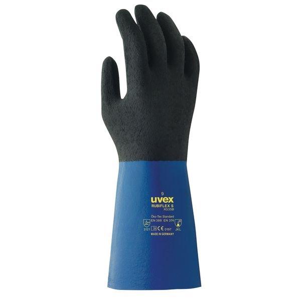 uvex Chemikalienschutzhandschuhe, Nitril-Kautschuk-Basis